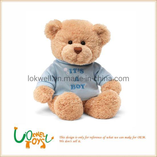 Blue T-Shirt Teddy Bear Stuffed Animal Toys Plush Bear