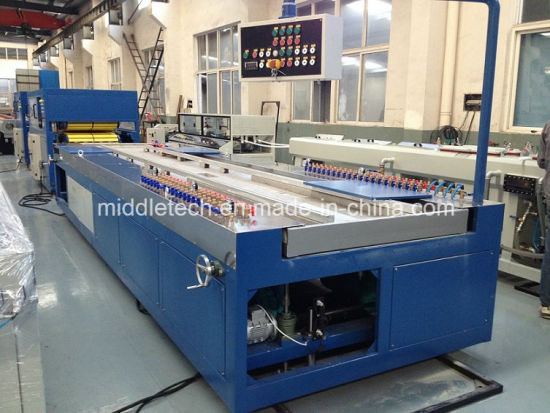 PVC WPC Plastic Windows and Door Profiles Extrusion Production Line pictures & photos