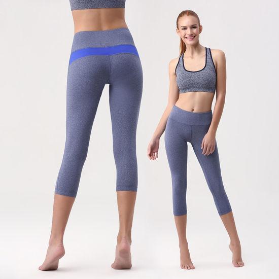 2d0fc5042171f Splicing 80% Polyamide 20% Elastane Women′s Yoga Capri Leggings pictures &  photos