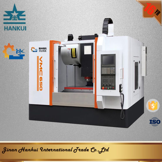 China Hot Sales Heavy Frame and Taiwan Linear Guide Way Vmc 1050 CNC ...