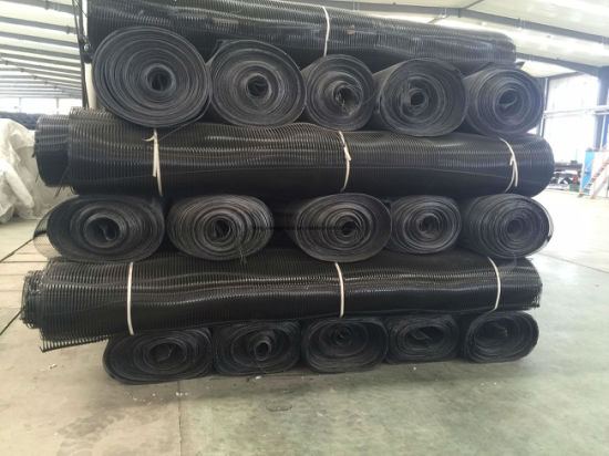 Tensile Strength Glass Fiber Geogrid for Railway Foundation pictures & photos