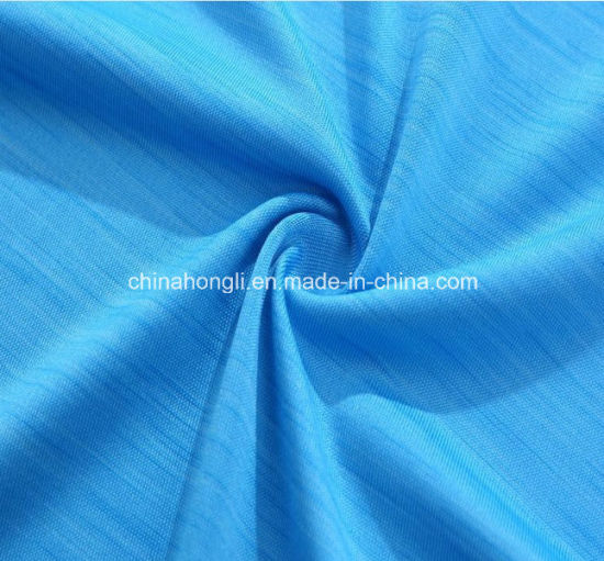 Fashion Space-Dyed Polyester Lycra Yoga Knitted Fabric for Women Garment