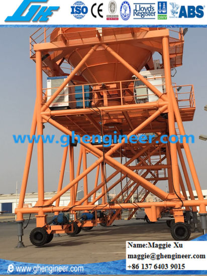 Port Machine Hydraulic Support Legs Bulk Cargo Unloading Hopper pictures & photos