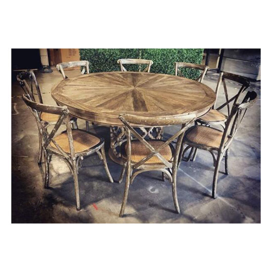 China Large Solid Wood Top Round Dining Table Wooden