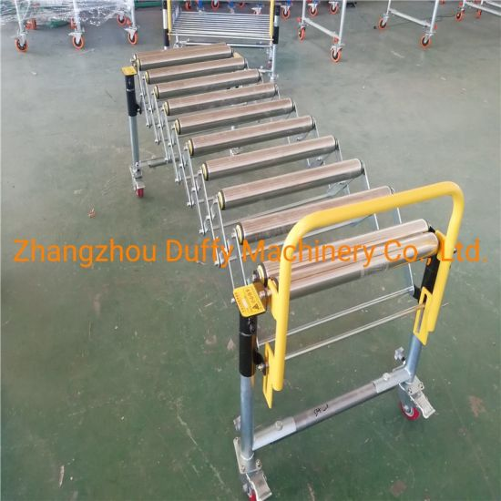 Extendable Gravity Steel Roller Conveyor for Processing and Packing