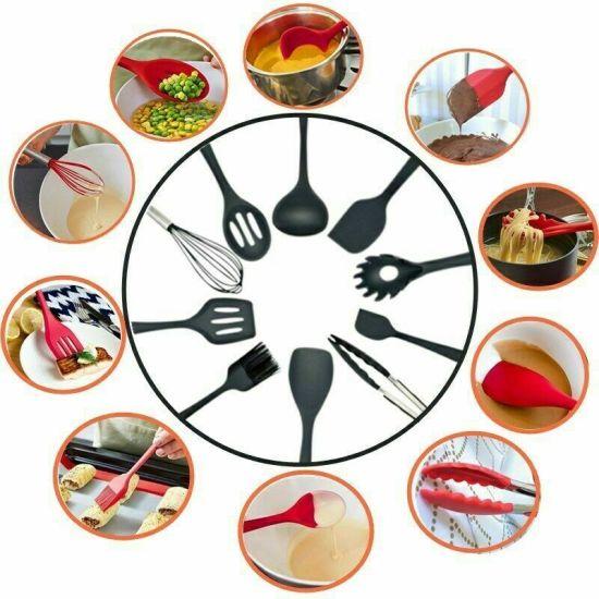 10PCS Kitchenware Silicone Heat Resistant Cooking Utensil Non-Stick Baking Tool