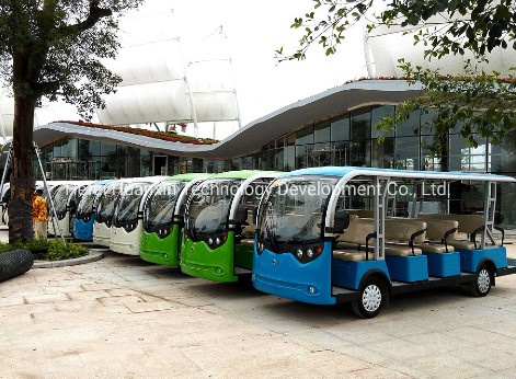 Electric Passenger Car Electric Sightseeing Car Shuttle Bus 11 Seater