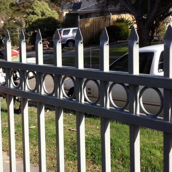 Aluminium Fencing/Picket Fence/Flat Fence/Loop Top Fence for America Market