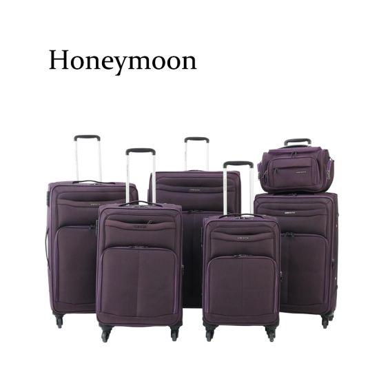 6PC Set Nylon Material Luggages with Kit (JB1008) pictures & photos