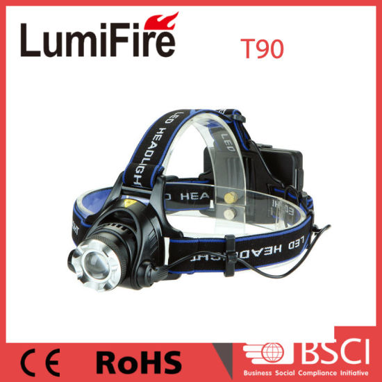 400lm CREE Xm-L T6 Telescopic Zoomable LED Headlamp