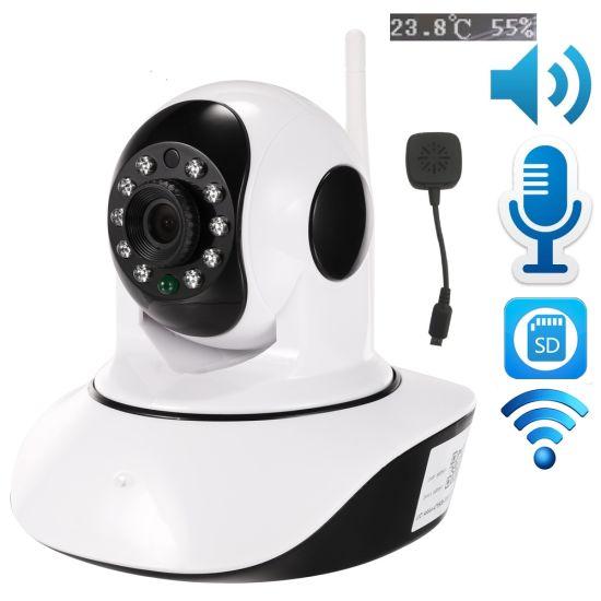 China Wireless HD IP Camera P2p Baby Monitor Audio SD Card