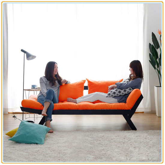 Orange Color Wood Fabric Sofa Chair For Hotel