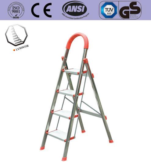 4 Steps Stainless Steel Household Ladder