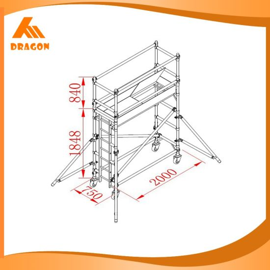 High Quality Frame Type Scaffold Aluminium Scaffolding with Climbing Ladders