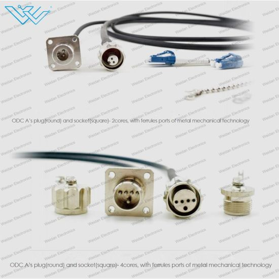 Cpri Fiber Optical Outdoor 2 and 4 Patch Cord Ftta Odc IP67 Waterproof Connector pictures & photos