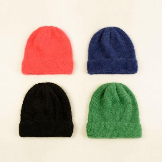 93f971d6cdda3 Promotion Gift Custom Warm Cap Winter Knitted Women Beanie Hats Acrylic