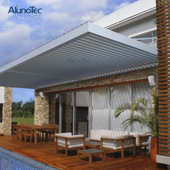 Waterproof Aluminum Patio Deck Canopy Opening Roof System Pergola & China Waterproof Aluminum Patio Deck Canopy Opening Roof System ...
