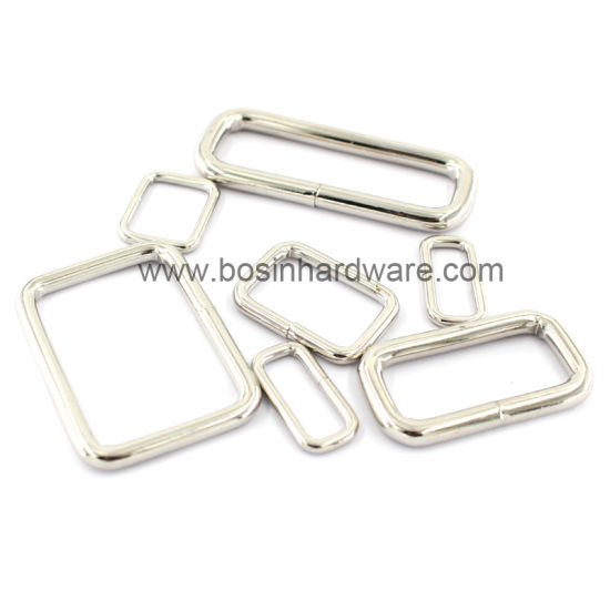 Metal Rectangular Buckle Ring for Webbing Strap pictures & photos