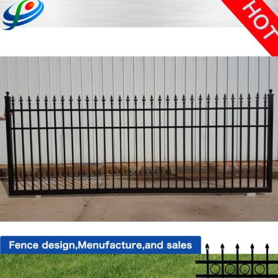 China Aluminum Black Fence Wrought Iron Main Gate Design For Residential Used China Aluminum Gate And Fence Gate Price