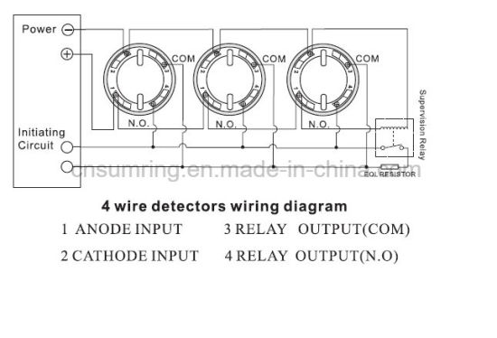 wholesale 4 wire conventional optical smoke and fire sensor/detector