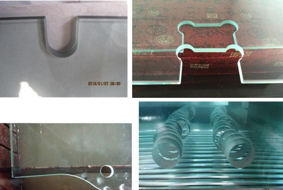 12mm Tempered Door Glass for Spring Hinge Installation pictures & photos