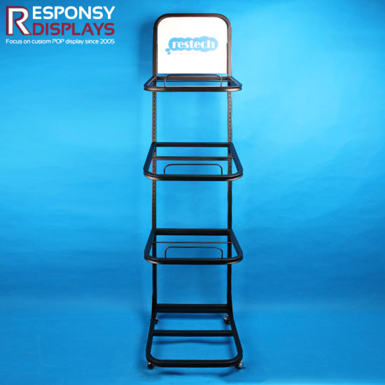 POS Mattress Metal Floor Display Stand pictures & photos