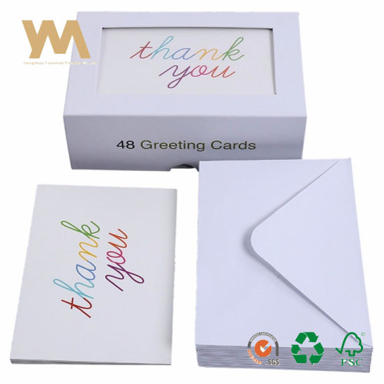 China 48 Assorted Pack Thank You Note Greeting Card China Greeting