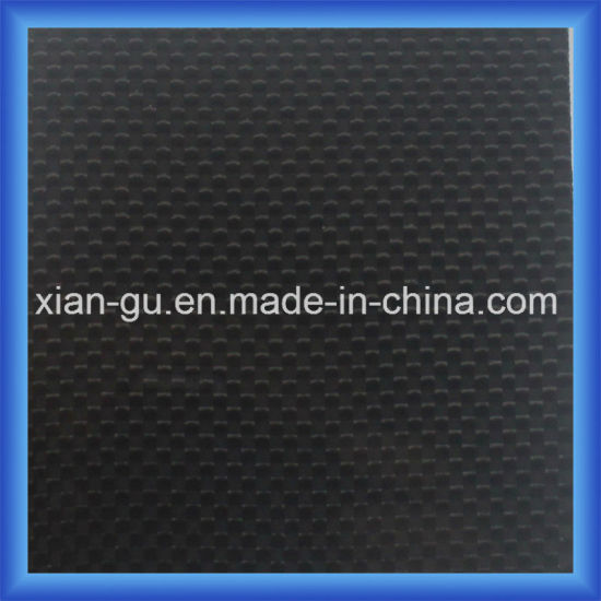 0.6mm 3m Back Glue Plain Glossy Carbon Fiber Sticker pictures & photos