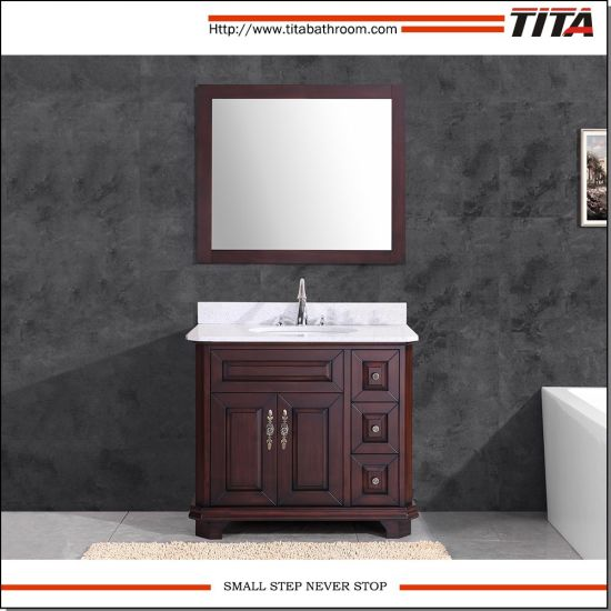 Solid Wood Antique Style Bathroom Vanity T9314-60/72A - China Solid Wood Antique Style Bathroom Vanity T9314-60/72A - China