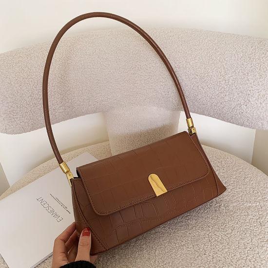 Women's Underarm Bag 2020 New Fashion French Minority Hands Bill of Lading Shoulder Bag Fashion Versatile Retro PU Handbag
