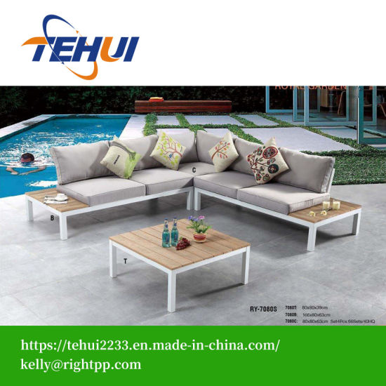 Swell Modern Hotel Patio Corner Aluminum L Shaped Sectional Sofa Theyellowbook Wood Chair Design Ideas Theyellowbookinfo