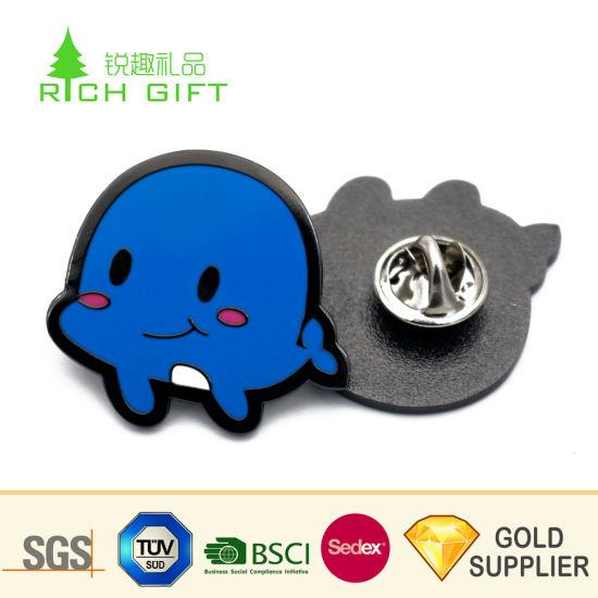 [Hot Item] Unique Design Custom Made Metal Soft Enamel Black Nickel Plating  Smart Animal Bee Lapel Pin for Kids Gift