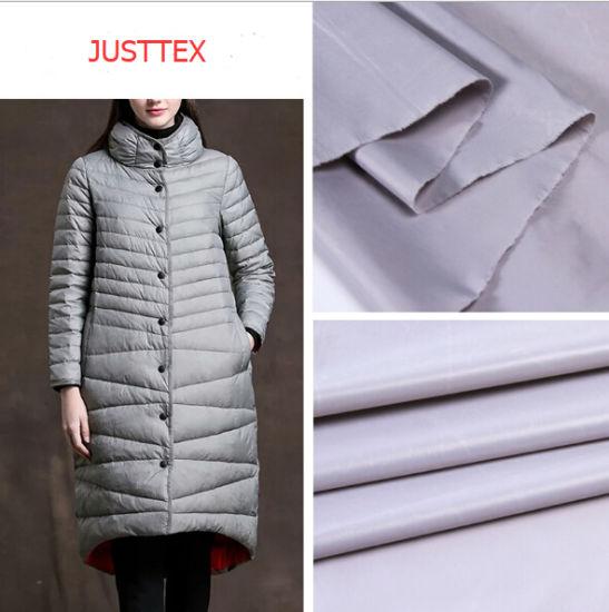 Polyester Nylon Taslon Plaid Waterproof Jacket Fabric