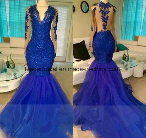 China Gold Sequins Spandex Party Prom Gown Red Blue Wine Black