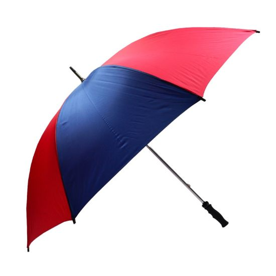 Durable Windproof Stainless Steel Golf Umbrella (Blue Red)
