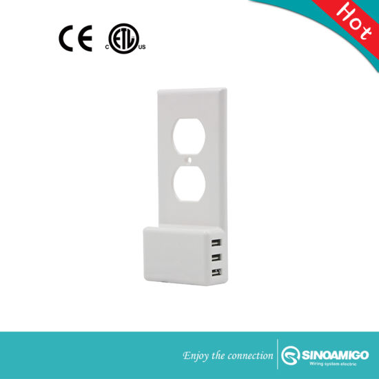 American Style USB Electrical Wall Socket Electric Switch Socket