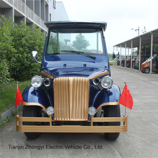 Zhongyi Real Estate Used Luxury 8 Seated Electric Vehicle Vintage Car