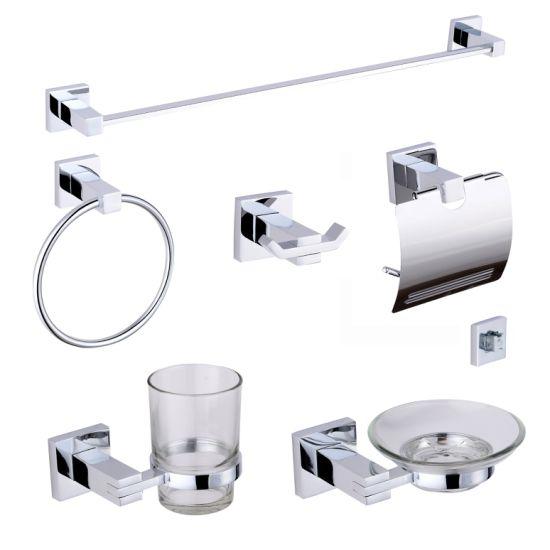 Bathroom Accessories, Modern Chrome Bathroom Accessories Set
