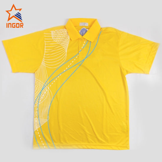 Sports Badminton Polo Shirt, Sportswear Volleyball, High Quality Badminton Polo Shirt, Customized Shirt