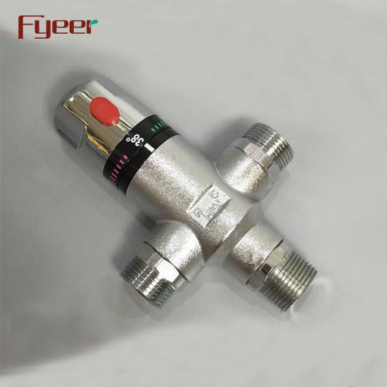 Fyeer DN20 Brass Anti Scald Temperature Sensitive Water Mixer Thermostatic Mixing Valve