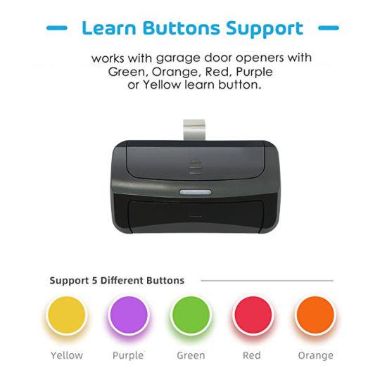 LiftMaster Green Learn Button Compatible Single Button Visor Remote 390 MHz