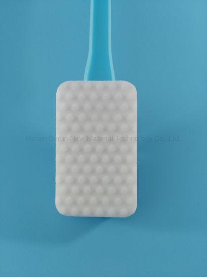 Toilet Cleaning Magic Sponge with Sponge Refills and Long Plastic Handle Blue PU Sponge and Extra Power Sponge