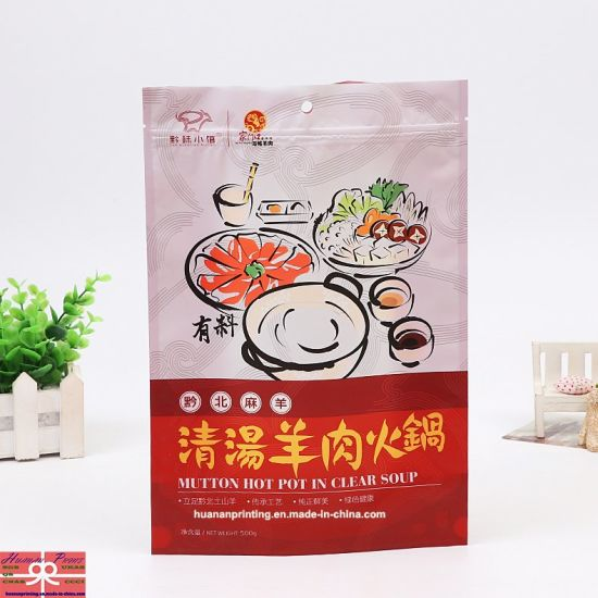 Stand up Zipper Bag with Full Printing and Matt Finishing for Food or Chili Packing