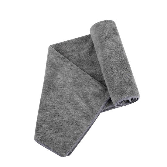 Luxury Logo Printed Mini Gray Microfiber Terry Cloth Towel for Swimming