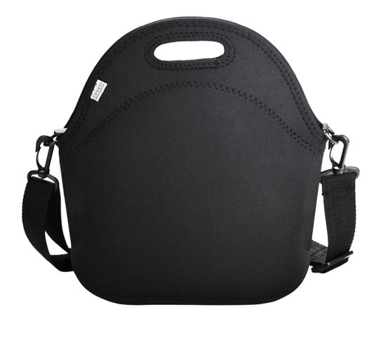 Black Neoprene Bag with Shoulder Strap