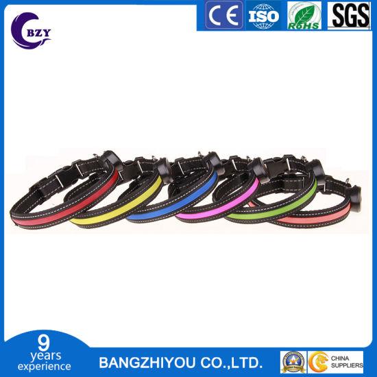 LED Luminous Dog Collar Rechargeable Rechargeable Pet Send USB Cable Wholesale