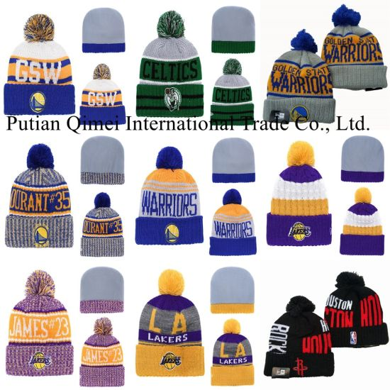 Lakers 76ers Heat New-Era Sport Cuffed POM Knit Basketball Beanies