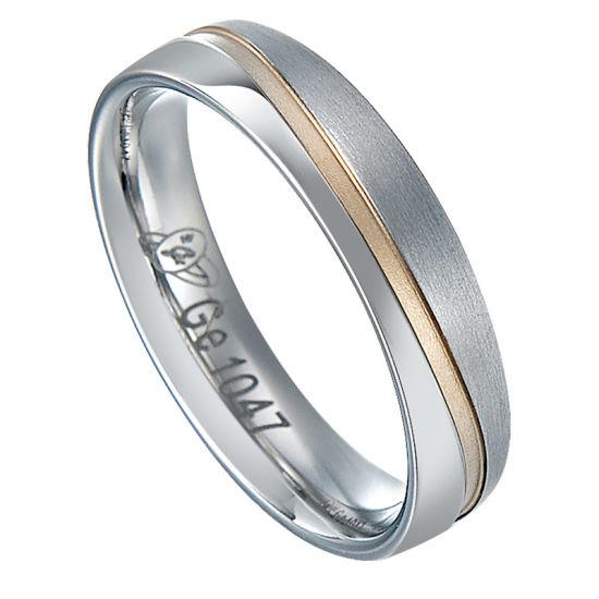 One Stone Zircon Stainless Steel Wedding Ring