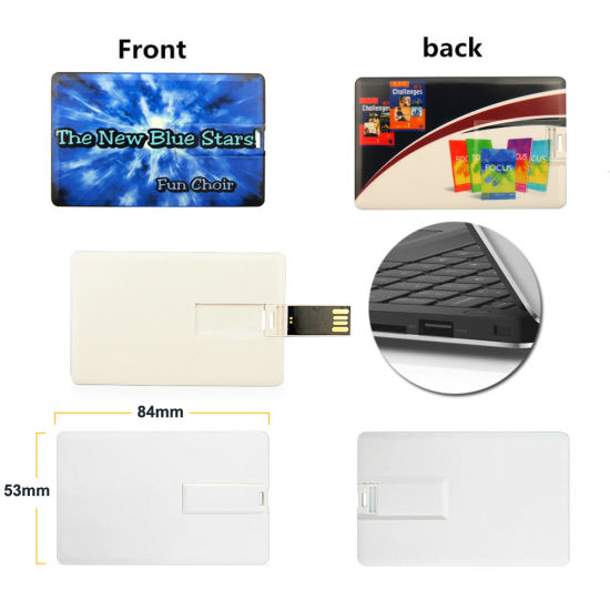 Promotional Gifts USB Stick Flash Memory White Black Credit Card USB Flash Drive pictures & photos