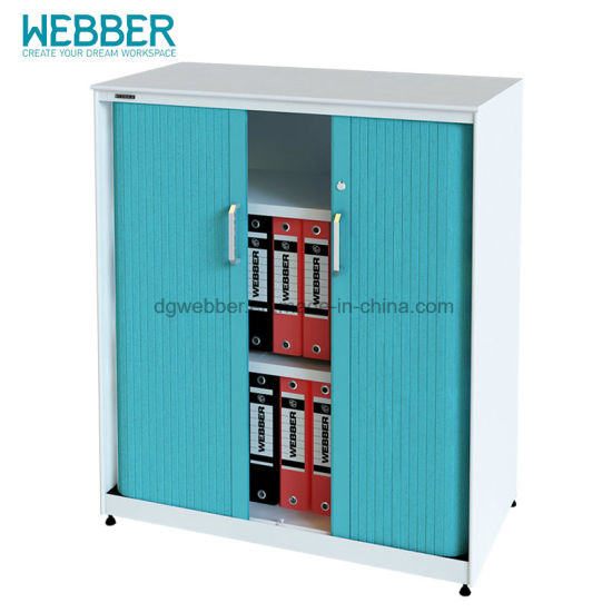 Modern Metal Filing Cabinet For Office With Plastic Tambour Door